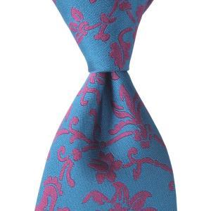 PENROSE ペンローズ(London) ネクタイ ボタニカル シルク ITALY製 プレゼント ギフト お誕生日 記念日 結婚式 ブルー|evergrays