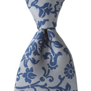 PENROSE ペンローズ(London) ネクタイ ボタニカル シルク ITALY製 プレゼント ギフト お誕生日 記念日 結婚式 グレー|evergrays