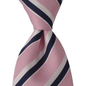 STEFANO BIGI ステファノ ビジ ネクタイ ストライプ シルク ITALY製 プレゼント ギフト お誕生日 記念日 結婚式 ピンク|evergrays