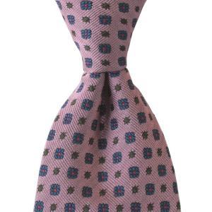 STEFANO BIGI ステファノ ビジ ネクタイ 小紋 シルク ITALY製 プレゼント ギフト お誕生日 記念日 結婚式 ピンク|evergrays