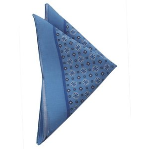 STEFANO BIGI ステファノ ビジ ポケットチーフ クレスト ITALY製 プレゼント ギフト お誕生日 記念日 結婚式 ブルー|evergrays