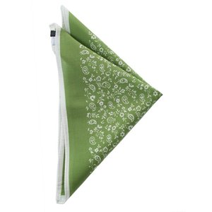 STEFANO BIGI ステファノ ビジ ポケットチーフ プリント ITALY製 プレゼント ギフト お誕生日 記念日 結婚式 グリーン|evergrays