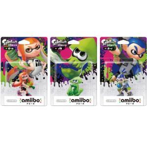 amiibo アミーボ 3個セット(スプラトゥーン シリーズ )ガール+ボーイ+イカ