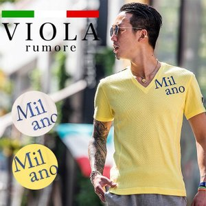 VIOLA rumore ヴィオラ 半袖 tシャツ メンズ ロンT 半袖Tシャツ プリントTシャツ ...