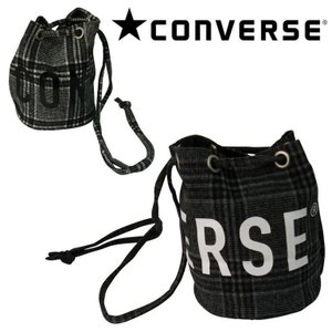 CONVERSE ROUNDLOGO CHECK PURSE BAG M 14664300 コンバース チェック柄 ルーズバック メンズ レディース ギフト evermall