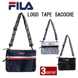 FILA サコッシュ ショルダーバッグ バッグ ショルダー 男女兼用 ユニセックス メンズ レディース フィラ メッシュ 黒 ブラック シンプル ユニセックス fm2097|evermall