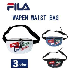 フィラ「FILA」 ワッペン ウェストバッグ ウェストポーチ ボディバッグ メンズ レディース ワッペンいっぱいバッグ fm2144|evermall