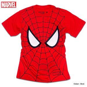 マーベル Tシャツ 半袖 スパイダーマン プリント キャラクター MARVEL アメコミ tシャツ グッズ メンズ キャラクター 赤 レッド アヴェンジャーズ|eversoul