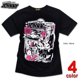 Tシャツ アメコミ キャラクター プリント メンズ 殺し屋ジョニー jb style 日本製 コラボ|eversoul