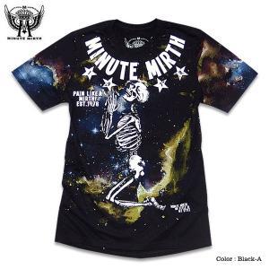 スカル 宇宙 ギャラクシー プリント Tシャツ メンズ ダンス 衣装 ブラック 黒|eversoul