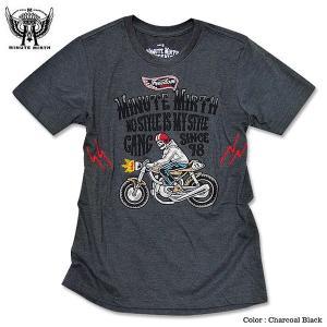 スカル 刺繍 Tシャツ ロック バイカー モーターサイクル メンズ バンド 衣装|eversoul