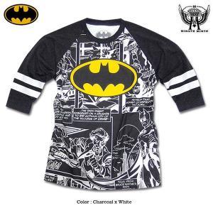 バットマン Tシャツ BATMAN 七分袖 ラグラン 7分袖 ラグランスリーブ メンズ ロゴ|eversoul