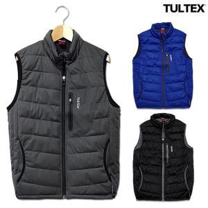 中綿ベスト メンズ TULTEX タルテックス ベスト アウター 大きいサイズ 3L ブラック ノースリーブ|eversoul
