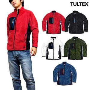 TULTEX フリースジャケット メンズ フリース ジップアップ ジャケット 軽量 秋 冬 3L アウトドア 防寒 暖かい 軽量 eversoul