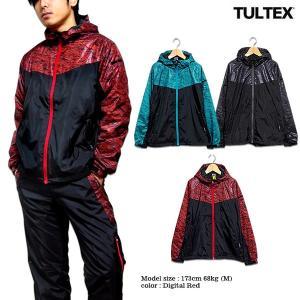 ジャケット アウター パーカー メンズ 裏フリース ブルゾン ウインドブレーカー TULTEX ブラック レッド ブルー M L LL 3L ジムウェア|eversoul