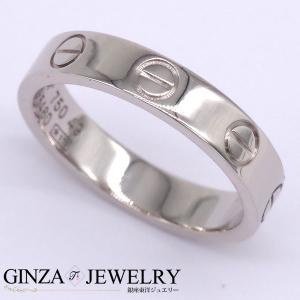 大特価品 Cartier カルティエ K18 ホワイトゴールド リング ミニラブリング 9号 指輪 【新品仕上済】 【pa】【中古】|everydaygoldrush