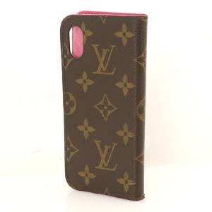 ルイヴィトン Louis Vuitton フォリオ アイフォンケース iphone x xs 用 ケース M63444 モノグラム×ローズポップ 携帯ケース【kk】【中古】 everydaygoldrush