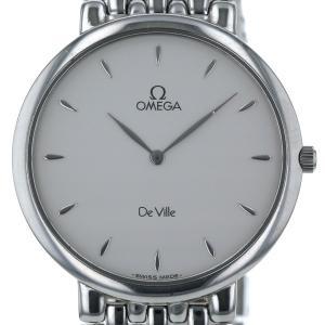 オメガ OMEGA DeVille デビル 55040643 クオーツ シルバー 文字盤 ラウンドフェイス 2針式 メンズ 腕時計 【el】【中古】 everydaygoldrush
