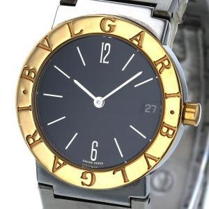 ブルガリ BVLGARI ブルガリブルガリ YG BB30SGD クオーツ ブラック 文字盤 2針式 メンズ 腕時計 【hon】【中古】 everydaygoldrush
