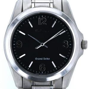 SEIKO グランドセイコー アラビア 8J55-0010 クオーツ ブラック 文字盤 3針式 メンズ 腕時計 【el】【中古】 everydaygoldrush