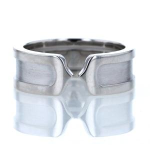 Cartier カルティエ K18WG ホワイトゴールド リング 2Cリング SM ヘアライン つや消し 指輪 9号 刻印49【新品仕上済】【zz】【中古】|everydaygoldrush
