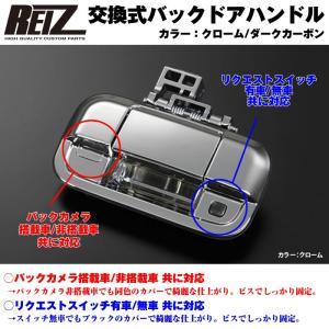 【クローム】REIZ ライツ 交換式バックドアハンドル1P 新型エブリイバンDA17V(H27/2-)|everyparts