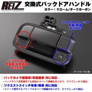 【ダークカーボン】REIZ ライツ 交換式バックドアハンドル1P 新型エブリイワゴンDA17W(H27/2-) everyparts
