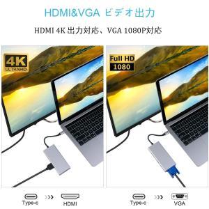 WU-MINGLU USB Type C ハブ 9IN1 USB C HDM変換 USB-VGAアダ...