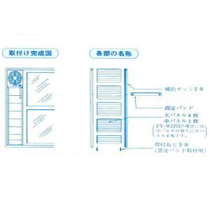パナソニック 高窓用補助サッシパネル FY-WJ201|evillage