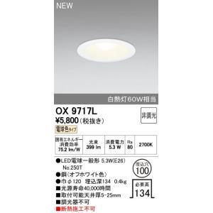 オーデリック(ODELIC)LEDダウンライト (電球色) 【OX9717LS】|evillage