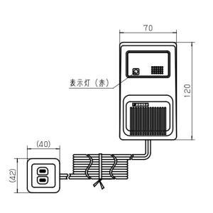 ガス当番 ガス漏れ警報器  都市ガス用ヘッド (AC100Vコード式・移報接点なし)【SH12918】|evillage