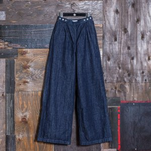 【カラーペイント】WOMEN'S/《COLETTE》 WOMEN'S WIDE PANTS SELVAGE DENIM/EVISUジーンズ|evisu