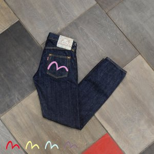 【カラーペイント】WOMEN'S/《#1977》 LADIES TAPERED/EVISUジーンズ|evisu