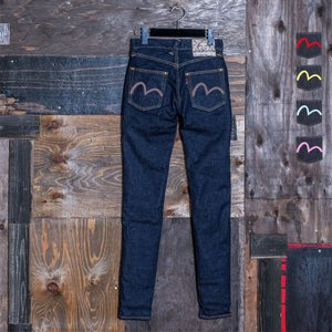 【カラーペイント】WOMEN'S/《#1984》 WOMEN'S SKINNY PANTS STRETCH DENIM/EVISUジーンズ|evisu