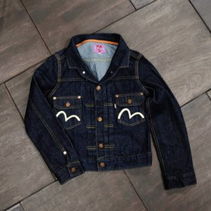 WOMEN'S/《LENA》 TAILORED-COLLAR DENIM JACKET/EVISUジーンズ|evisu
