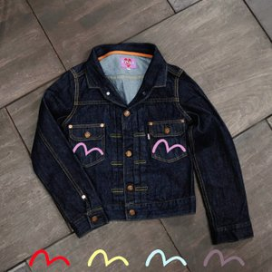 【カラーペイント】WOMEN'S/《LENA》 TAILORED-COLLAR DENIM JACKET/EVISUジーンズ|evisu