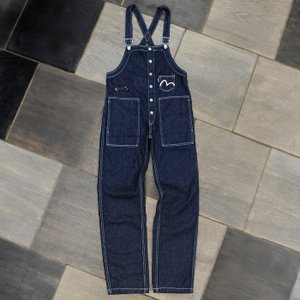 WOMEN'S/《SARA》 FISHERMAN'S OVERALL (DENIM)/カモメマーク3ポケット/EVISUジーンズ|evisu