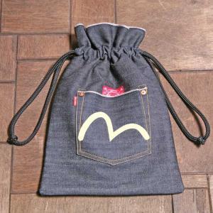 EVISUエヴィス TOWERTAN DRAWSTRING BAG/デニム/巾着/鞄/カバン/EVISUジーンズ|evisu