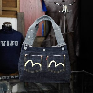 EVISUエヴィス《TOWERTAN6》 BOX TOTE (DENIM)/EVISUジーンズ|evisu