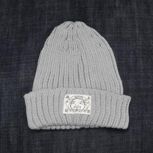 EVISUエヴィス COTTON KNIT CAP/ITALY PLAIN/GRAY/ニット帽/EVISUジーンズ|evisu