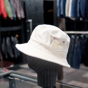 EVISUエヴィス SAFARI HAT/COTONE BIANCO/ポケット/EVISUジーンズ|evisu