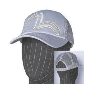 EVISUエヴィス メッシュスポーツキャップ/KAMOME刺繍/ライトグレイ/帽子/EVISUジーンズ evisu
