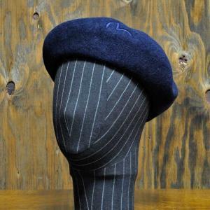 EVISUエヴィス OSAMU2 ベレー帽/ネイビー/EVISUジーンズ|evisu