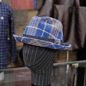 EVISUエヴィス GIAN HAT HARRIS TWEED/L.BLUE/EVISUジーンズ|evisu