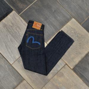 EVISUエヴィス 《#2000 No.2》 ストレートフィット ジーンズ (KAMOME刺繍/インディゴ)/28インチ〜36インチ/ノンウォッシュ/EVISUジーンズ evisu