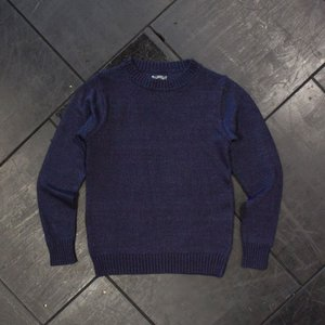 EVISUエヴィス コットンニットセーター クルーネック D.IND 002/EVISUジーンズ|evisu