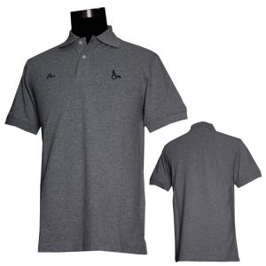 EVISUエヴィスPOLOシャツ/TROY×EVISU/チャコールグレイ/ポロシャツ/半袖/EVISUジーンズ|evisu