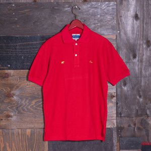 EVISUエヴィスPOLOシャツ/VISU×Golden Bear/レッド/ポロシャツ/半袖/EVISUジーンズ|evisu