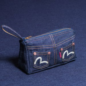 《NANO》 JEAN-POUCH (DENIM/RED SELVAGE)/EVISUジーンズ|evisu