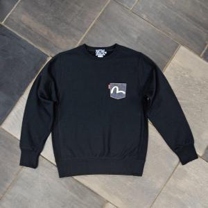 EVISUエヴィス SWEAT SHIRT PATCH1ポケット BLACK/EVISUジーンズ|evisu